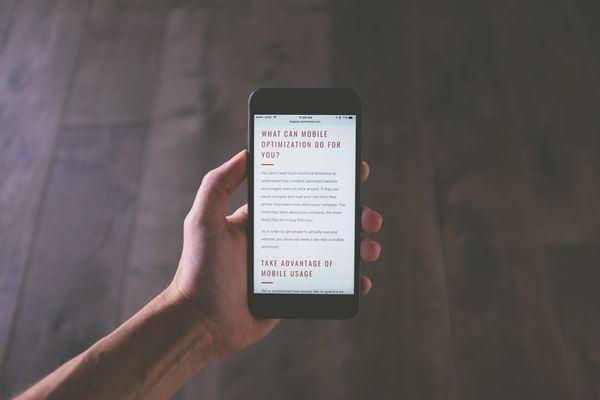 Mobile websites - web design trends 2018
